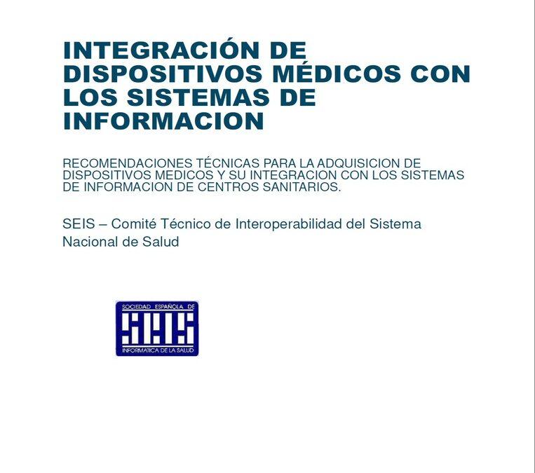 Publicada las Recomendaciones para la Integración de Equipos Médicos con los Sistemas de Información